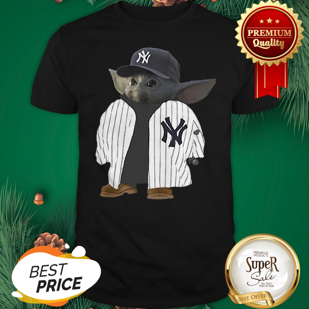 Official New York Yankee Baby Yoda Shirt