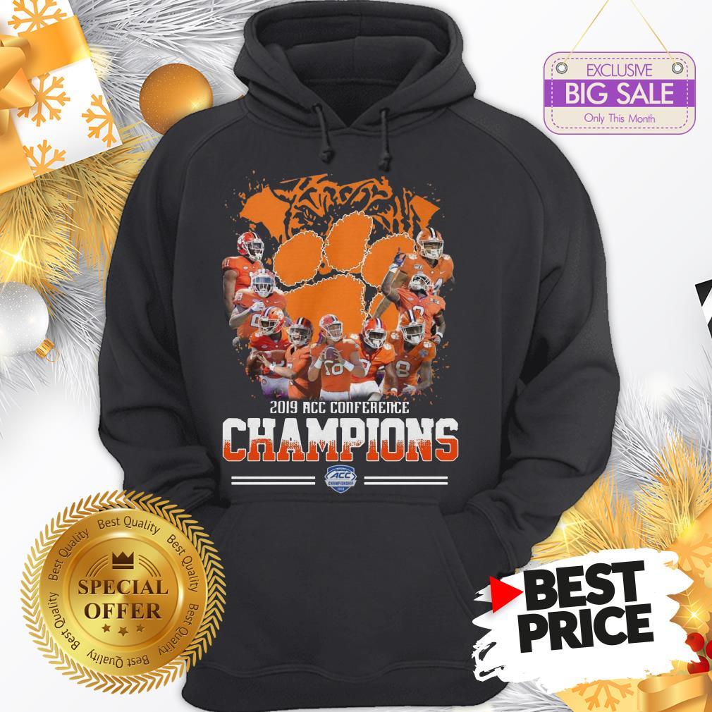 Official Nice Clemson Tigers Players 2019 Acc Conference Official Nice Clemson Tigers Players 2019 Acc Conference Champions Sport ShirtChampions Sport Hoodie
