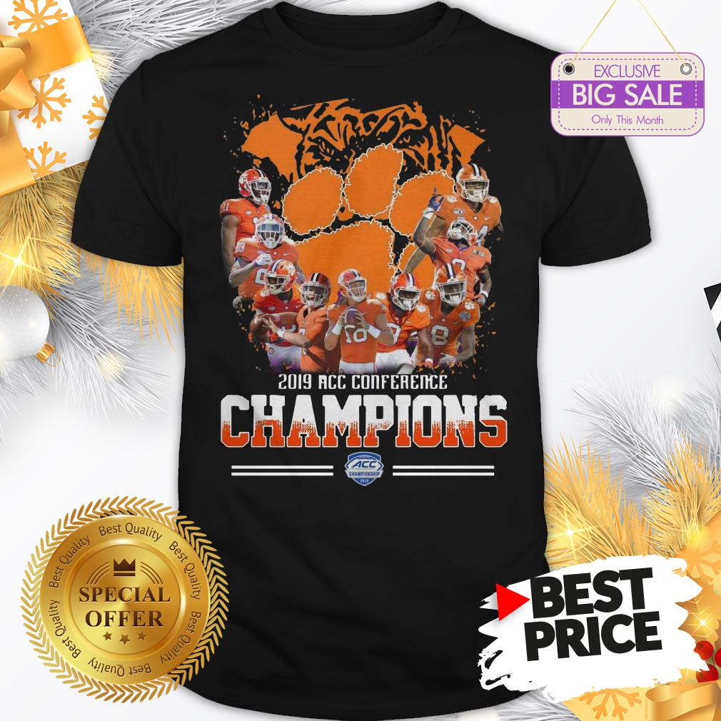 Official Nice Clemson Tigers Players 2019 Acc Conference Official Nice Clemson Tigers Players 2019 Acc Conference Champions Sport ShirtChampions Sport Shirt