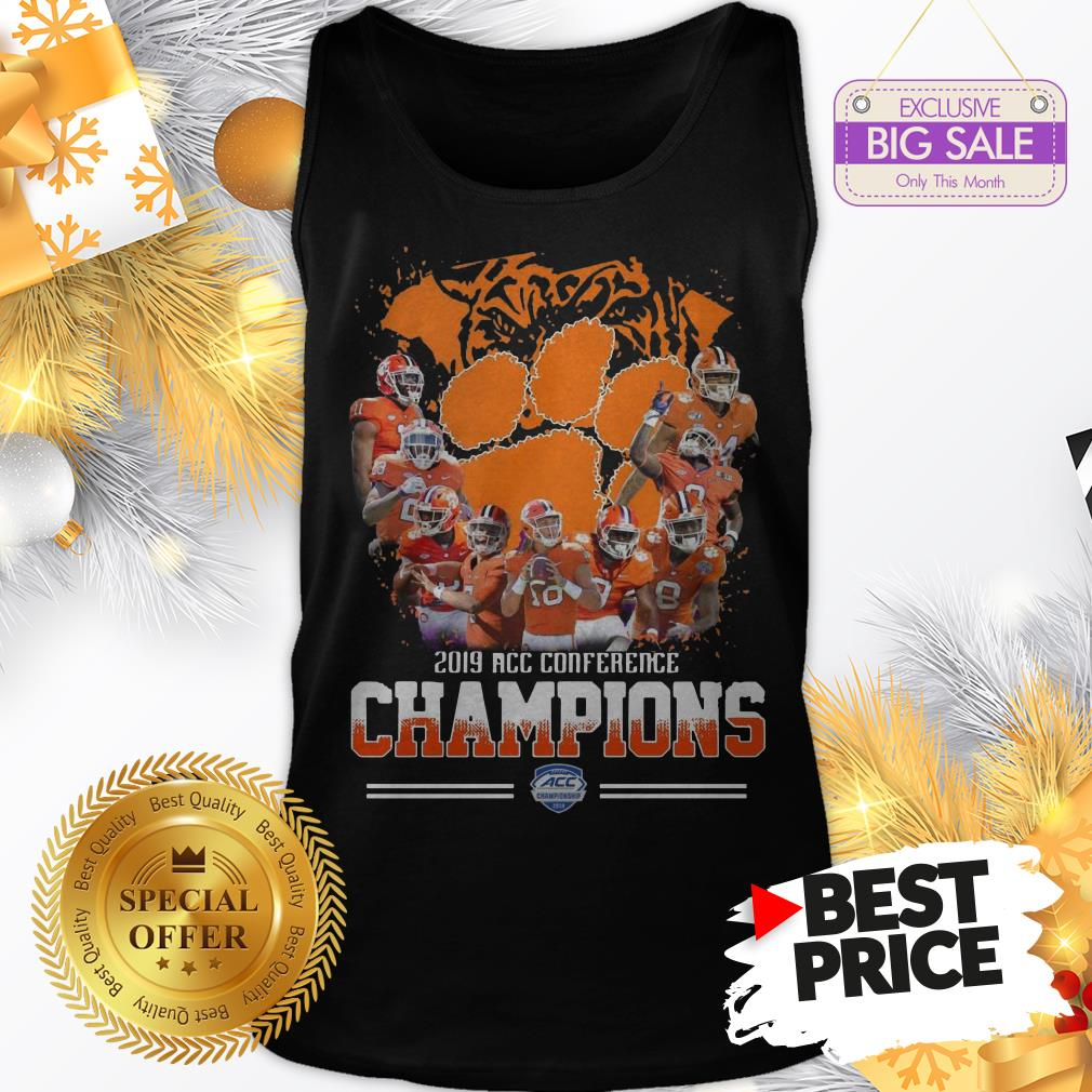 Official Nice Clemson Tigers Players 2019 Acc Conference Official Nice Clemson Tigers Players 2019 Acc Conference Champions Sport ShirtChampions Sport Tank Top