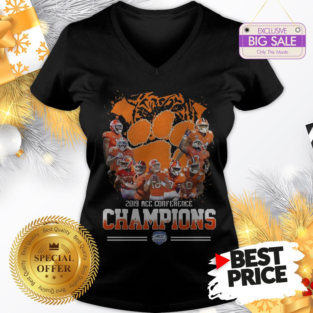 Official Nice Clemson Tigers Players 2019 Acc Conference Official Nice Clemson Tigers Players 2019 Acc Conference Champions Sport ShirtChampions Sport V-Neck
