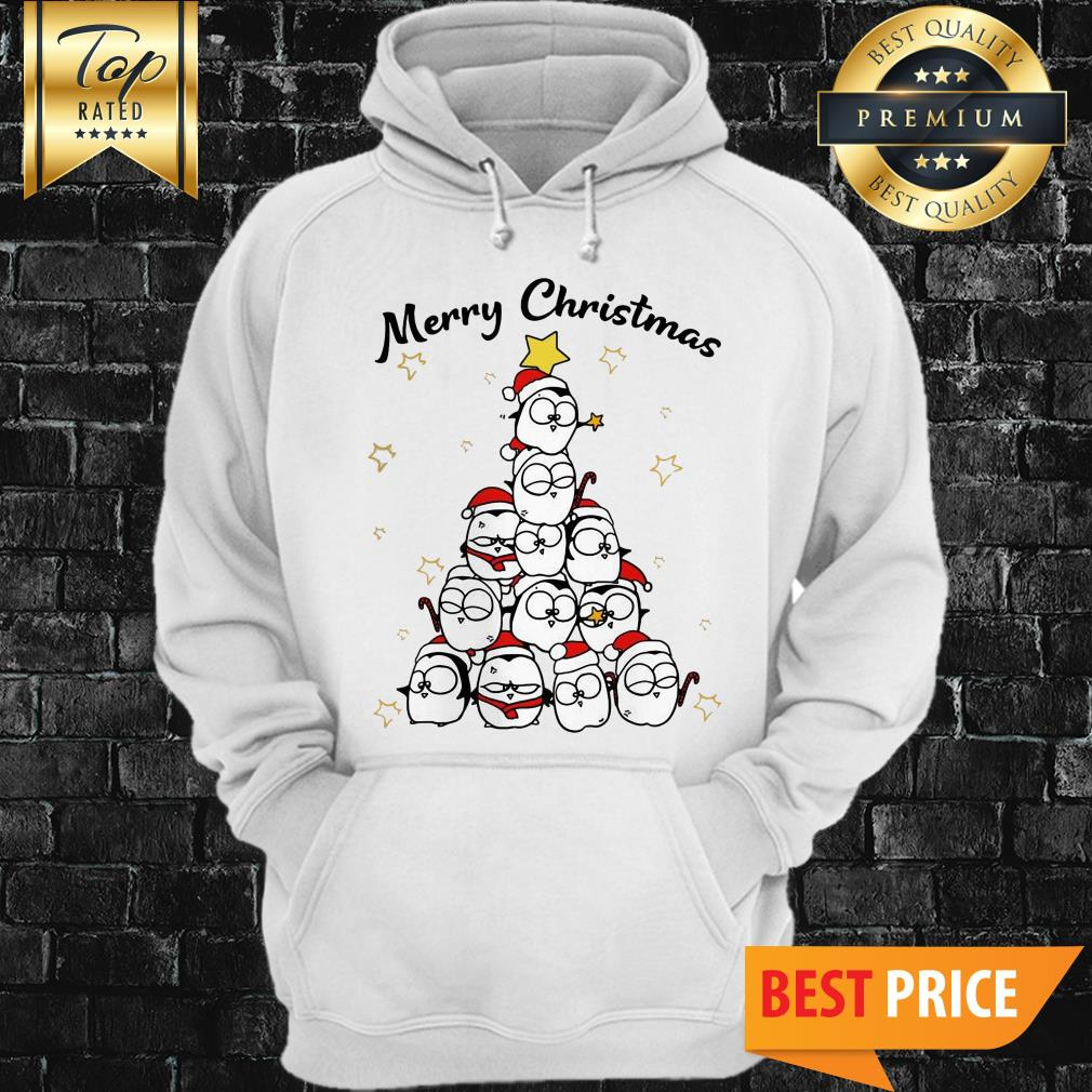 Official Penguin Merry Christmas Tree Hoodie
