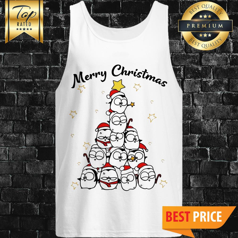 Official Penguin Merry Christmas Tree Tank Top