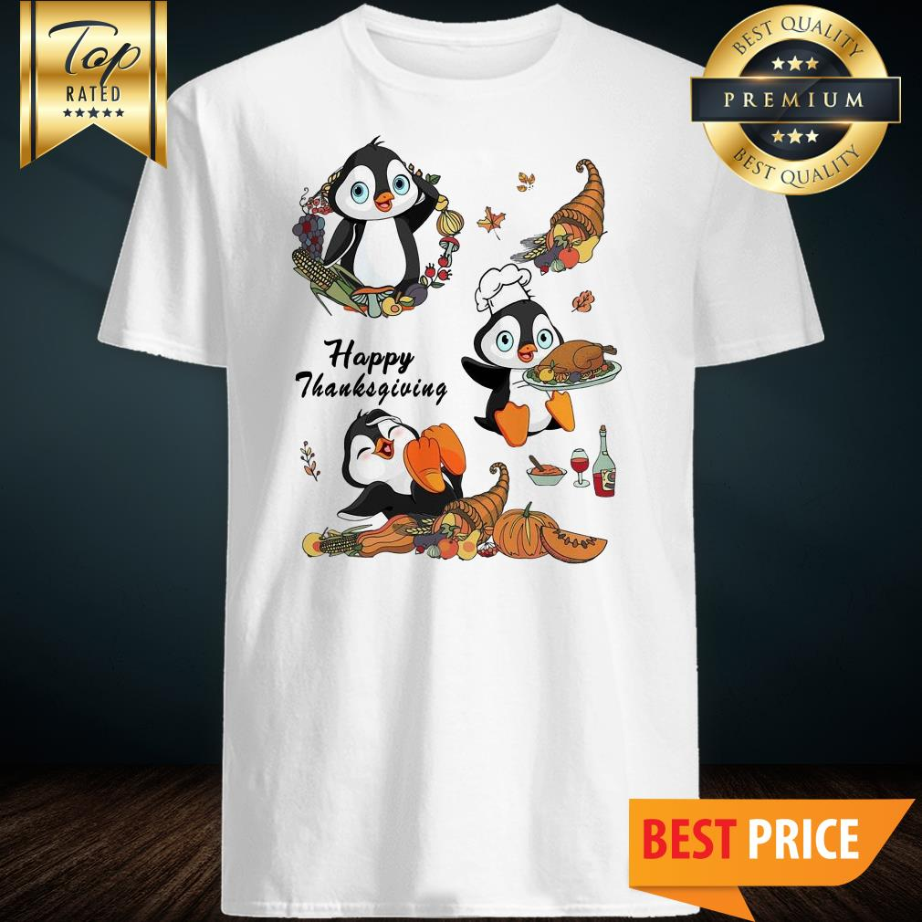 Official Penguins Happy Thanksgiving shirt