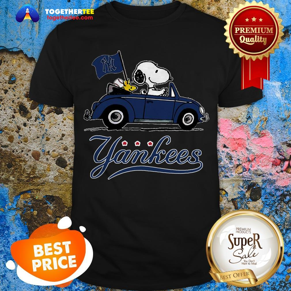 Official Snoopy Driving Volkswagen New York Yankees Shirt