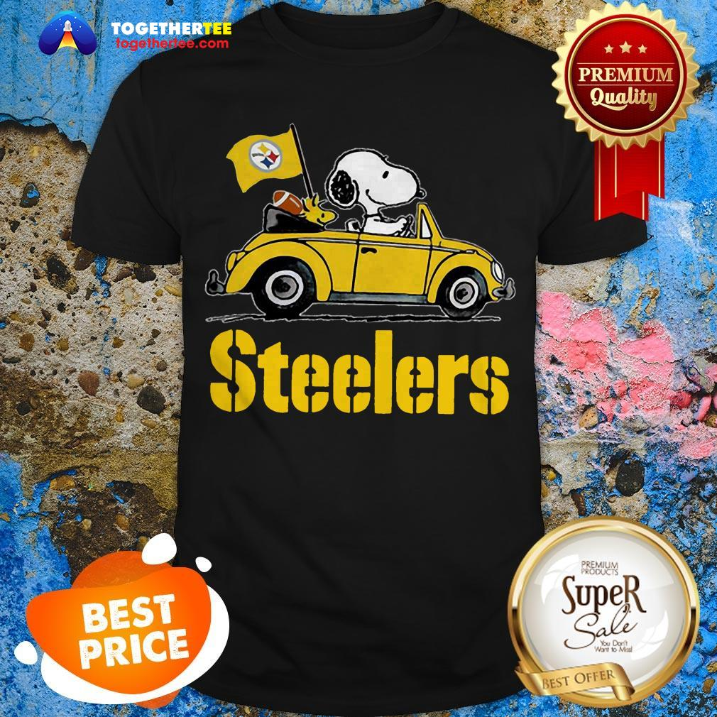 Official Snoopy Driving Volkswagen Pittsburgh Steelers Shirt