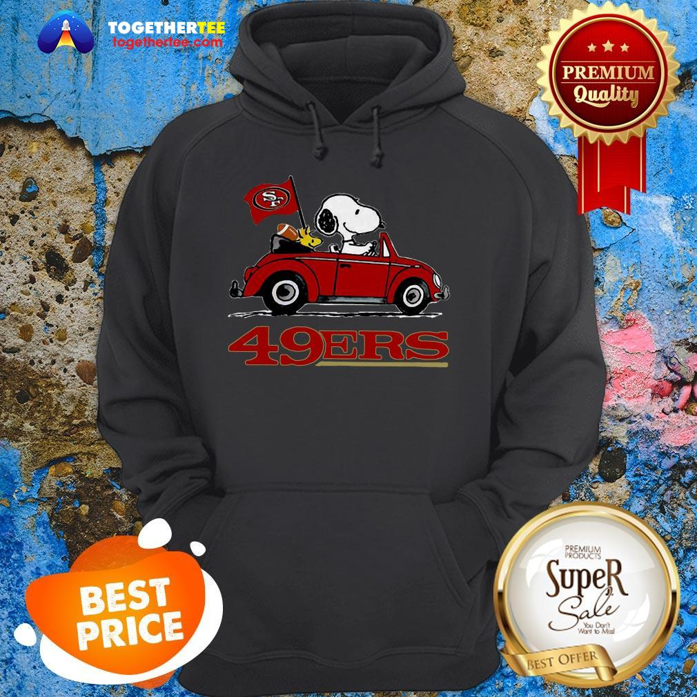 Official Snoopy Driving Volkswagen San Francisco 49ers Hoodie