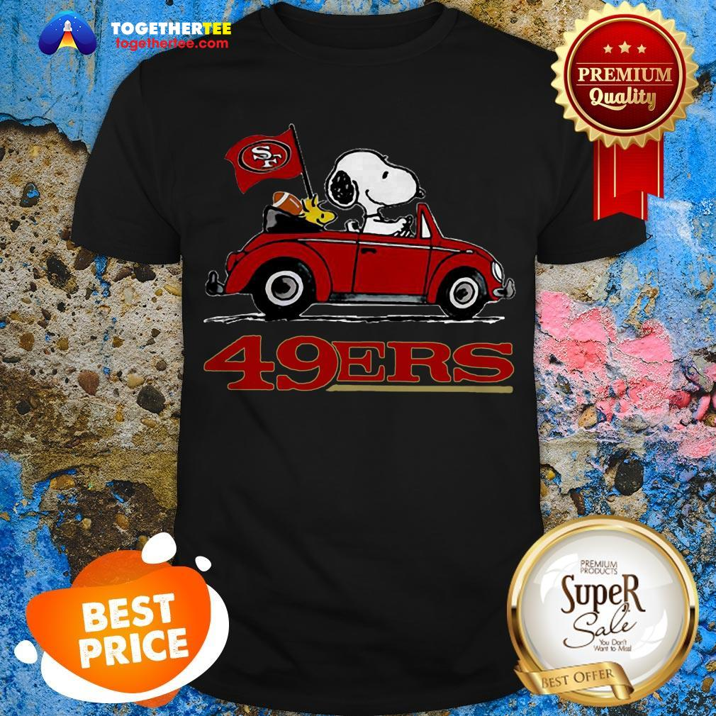 Official Snoopy Driving Volkswagen San Francisco 49ers Shirt