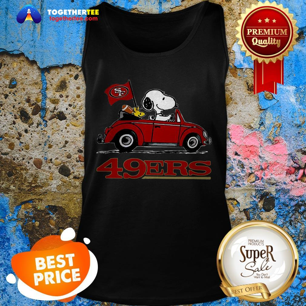 Official Snoopy Driving Volkswagen San Francisco 49ers Tank Top