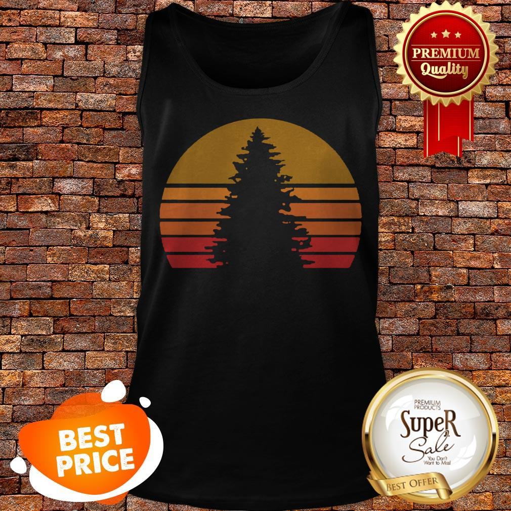 Official Sunset Rock Tree Vintage Tank Top