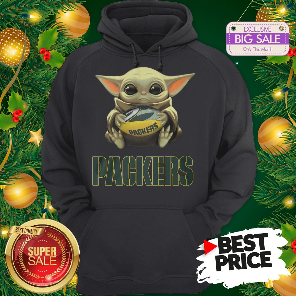 Official Top Baby Yoda Hug Green Bay Packer Hoodie