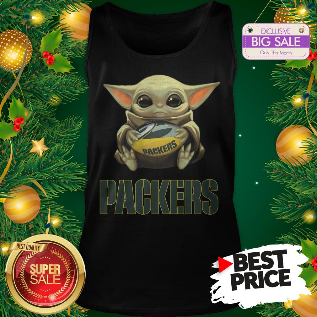 Official Top Baby Yoda Hug Green Bay Packer Tank Top