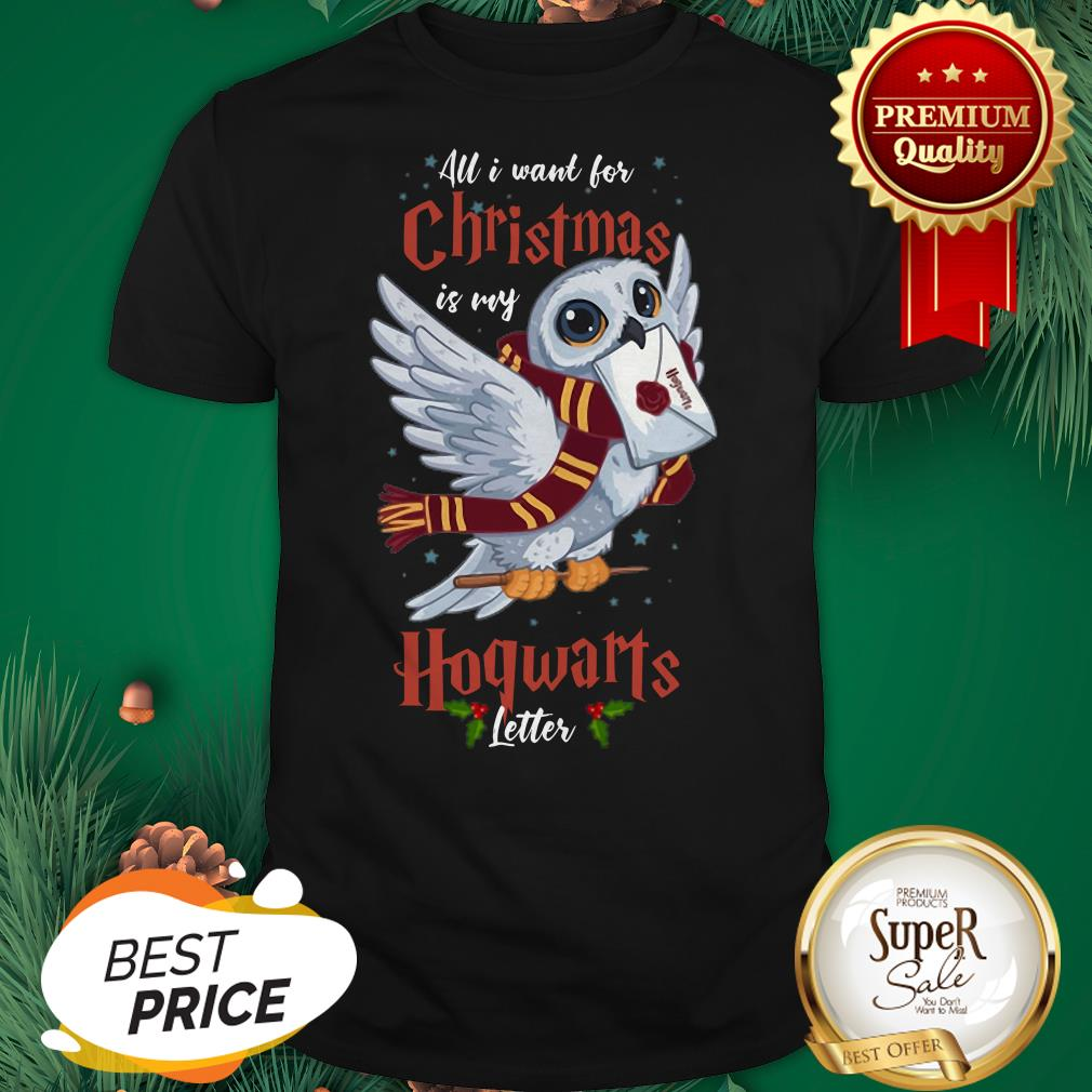 Owl All I Want For Christmas Is My Hogwarts Letter Shirt