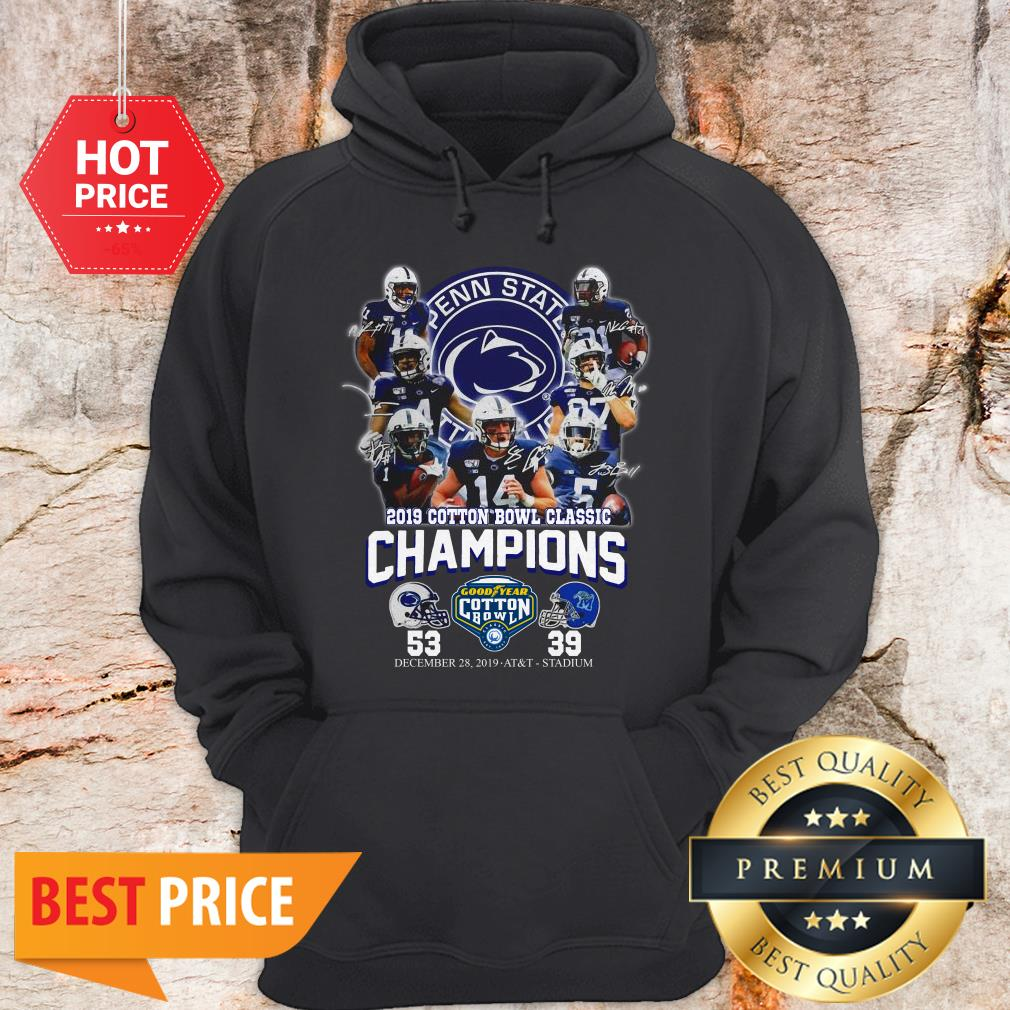 Penn State Nittany Lions 2019 Cotton Bowl Classic Champions Signature 53 39 Hoodie