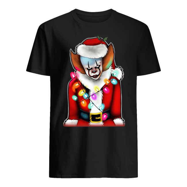 Pennywise Santa Claus Christmas lights IT Shirt