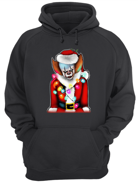 Pennywise Santa Claus Christmas lights IT Unisex Hoodie