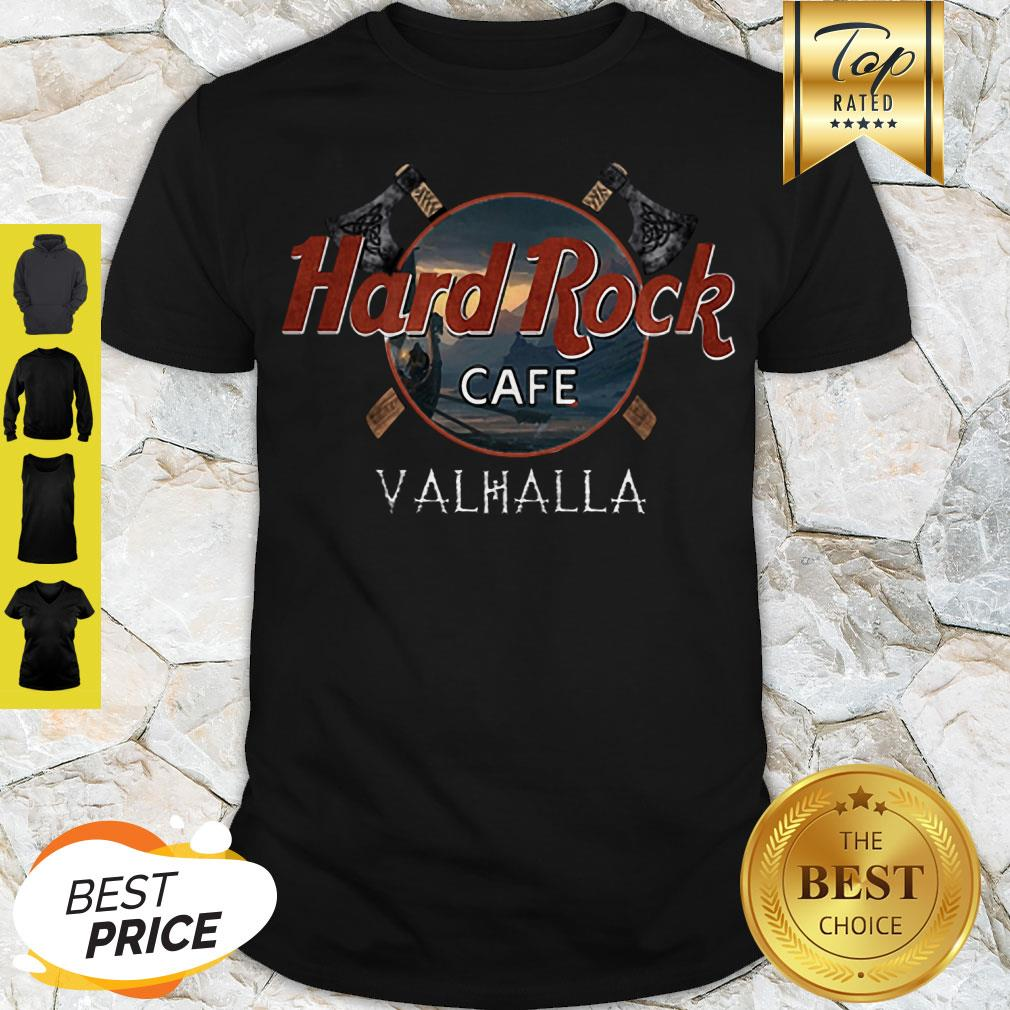 Perfect Hard Rock Cafe Valhalla Viking Shirt
