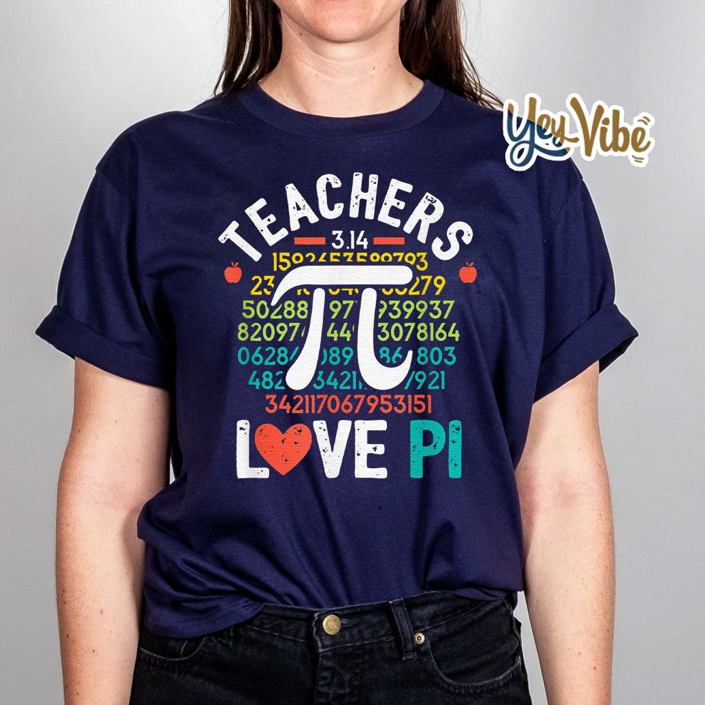 Pi Day Shirt Mathematics Teacher Nerd Geek Geometry Algebra Shirt