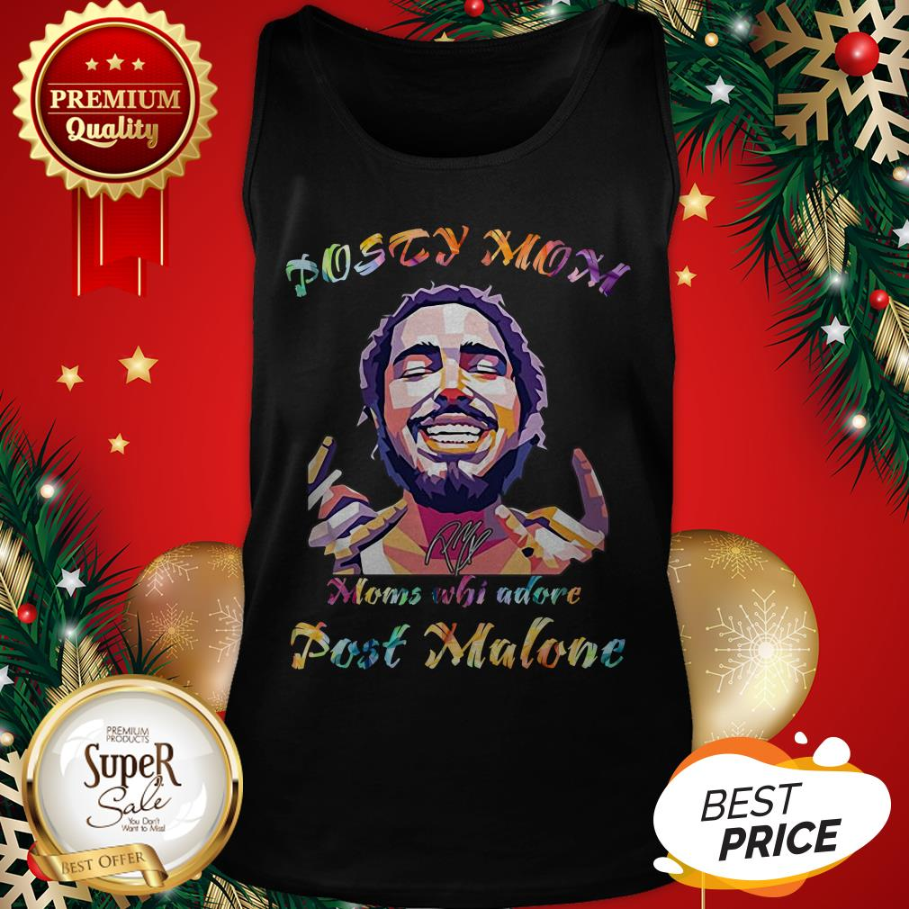 Posty Mom Moms Who Adore Post Malone LGBT Tank Top