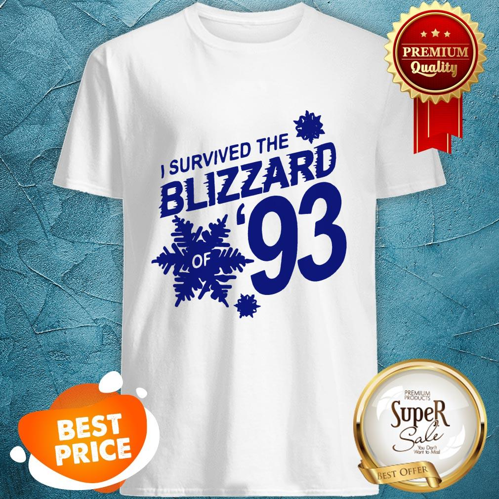 Pretty I Survived The Blizzard Of 93 Shirt