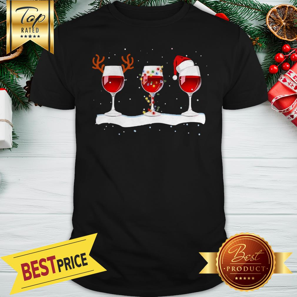 Red Wine Merry Christmas Shirt
