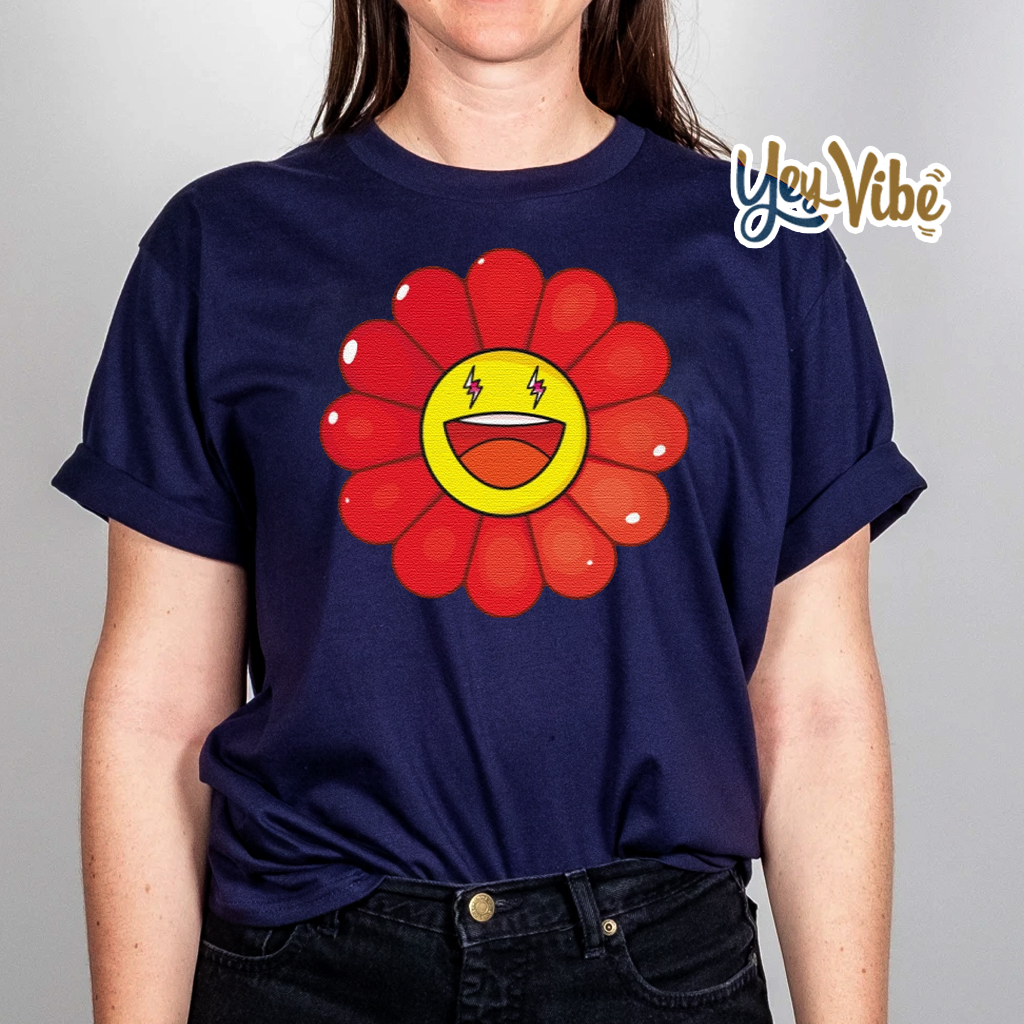 Rojo Large Flower t shirts