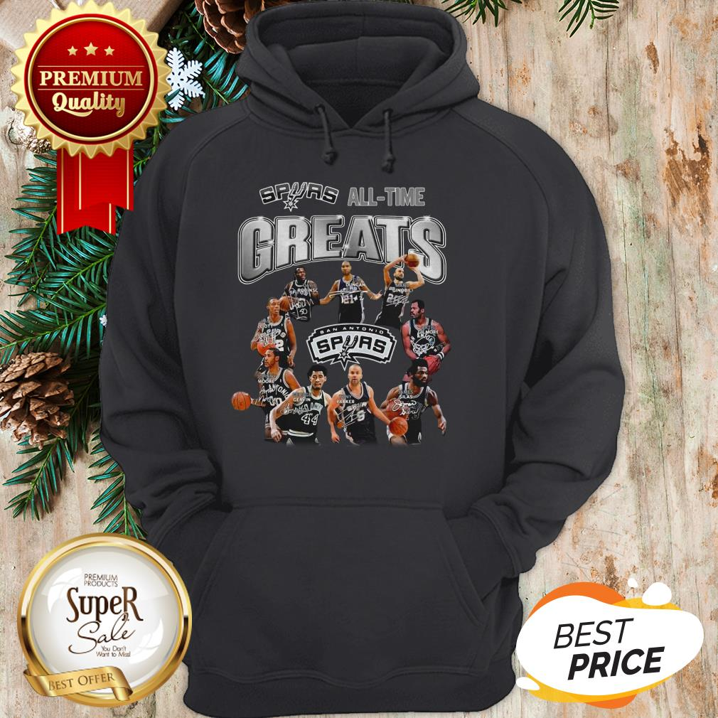 San Antonio Spurs All Time Greats All Signature Hoodie