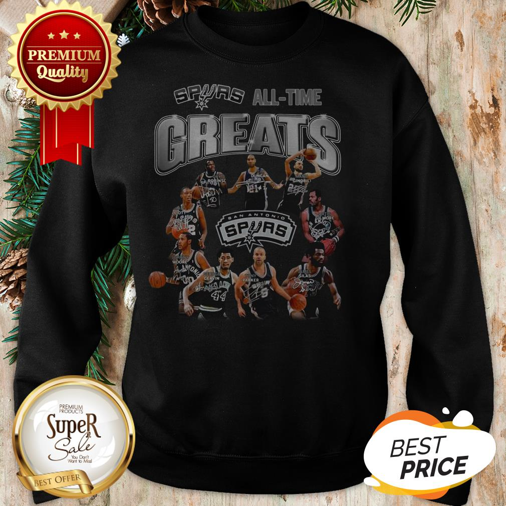 San Antonio Spurs All Time Greats All Signature Sweatshirt