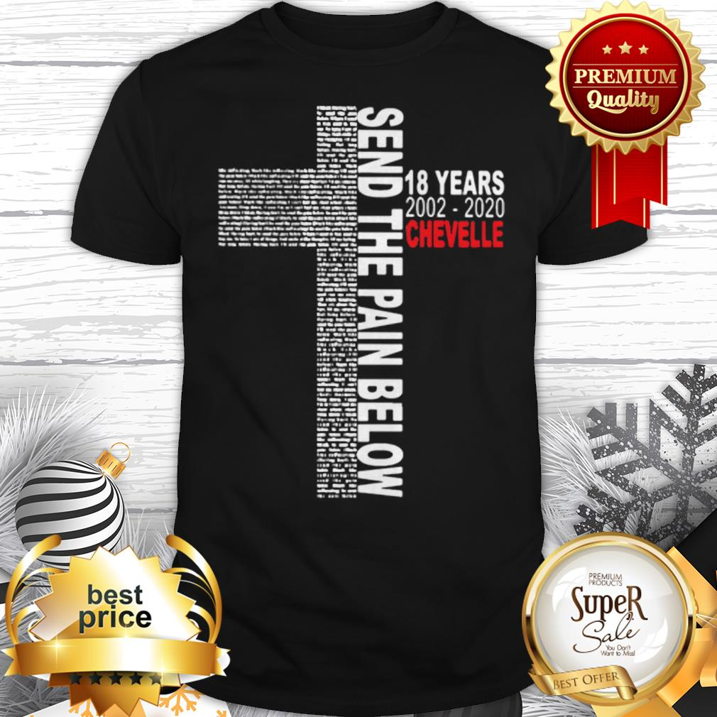 Send The Pain Below 18 years 2002 2020 Chevelle Shirt