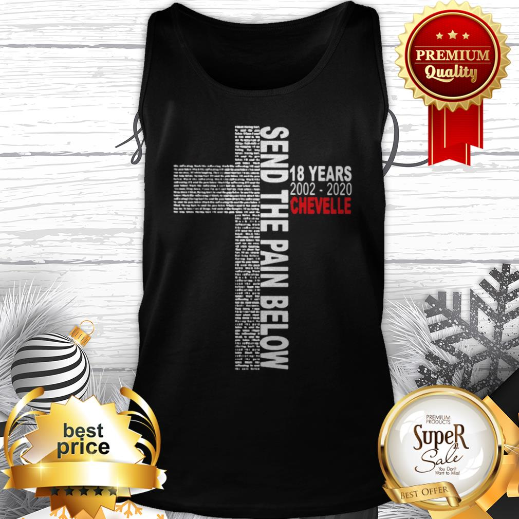 Send The Pain Below 18 years 2002 2020 Chevelle Tank Top