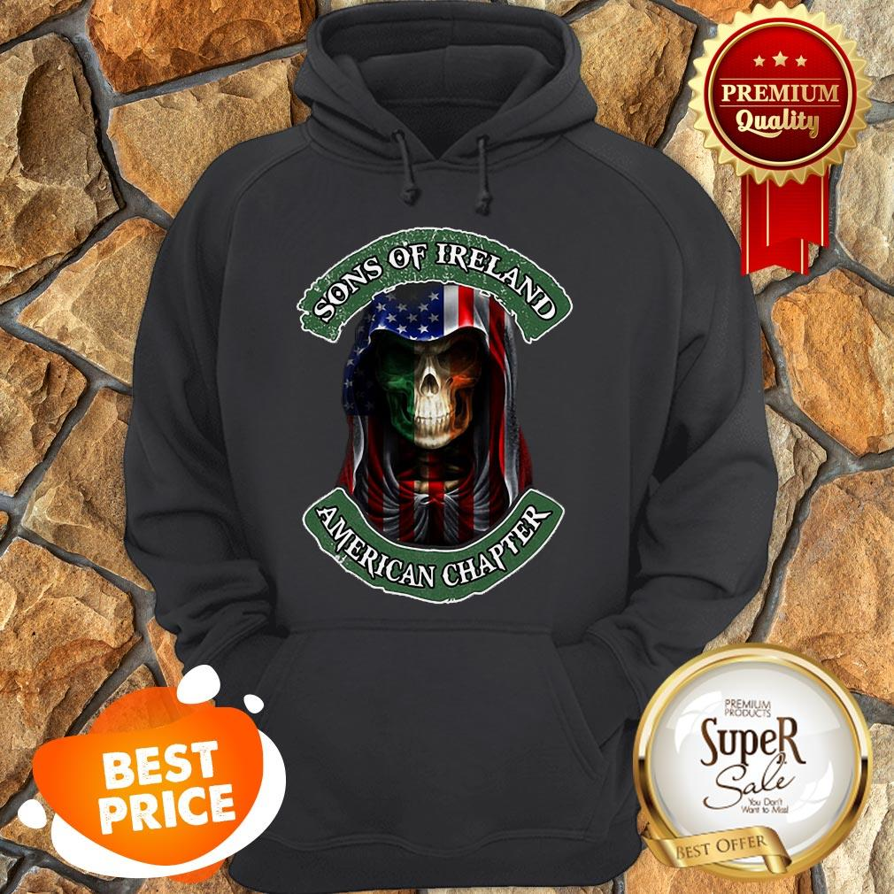 Skull Sons Of Ireland American Chapter St. Patrick's Day Hoodie