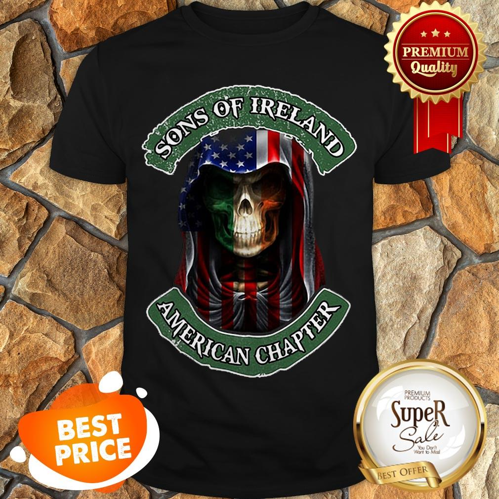Skull Sons Of Ireland American Chapter St. Patrick's Day Shirt