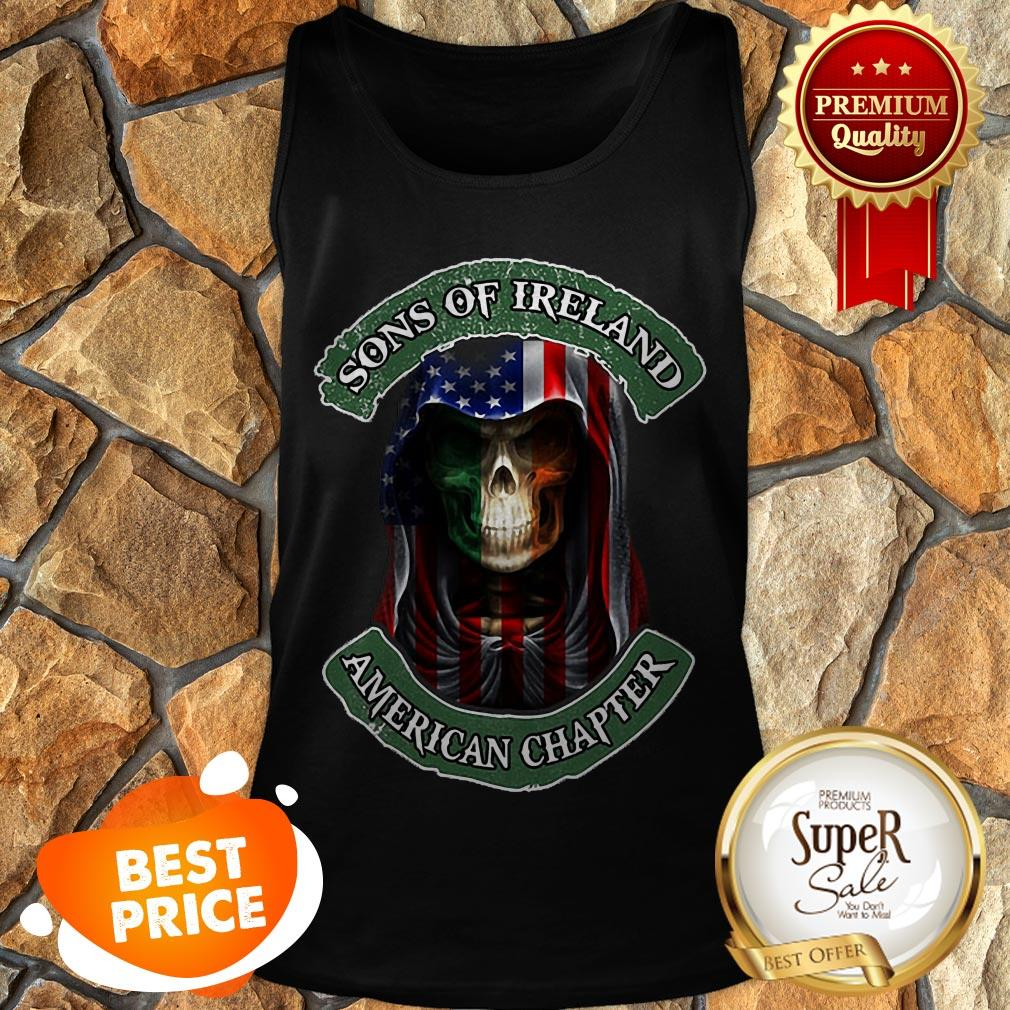 Skull Sons Of Ireland American Chapter St. Patrick's Day Tank Top
