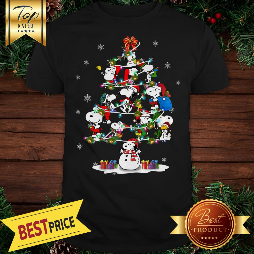 Snoopy Santa Christmas Tree Shirt