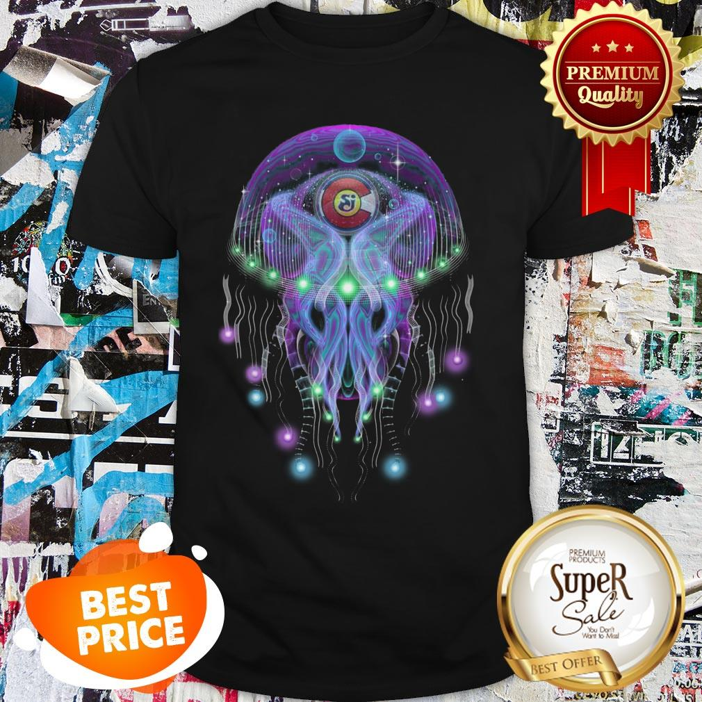 String Cheese Incident CO Love Psychedelic Jellyfish Shirt