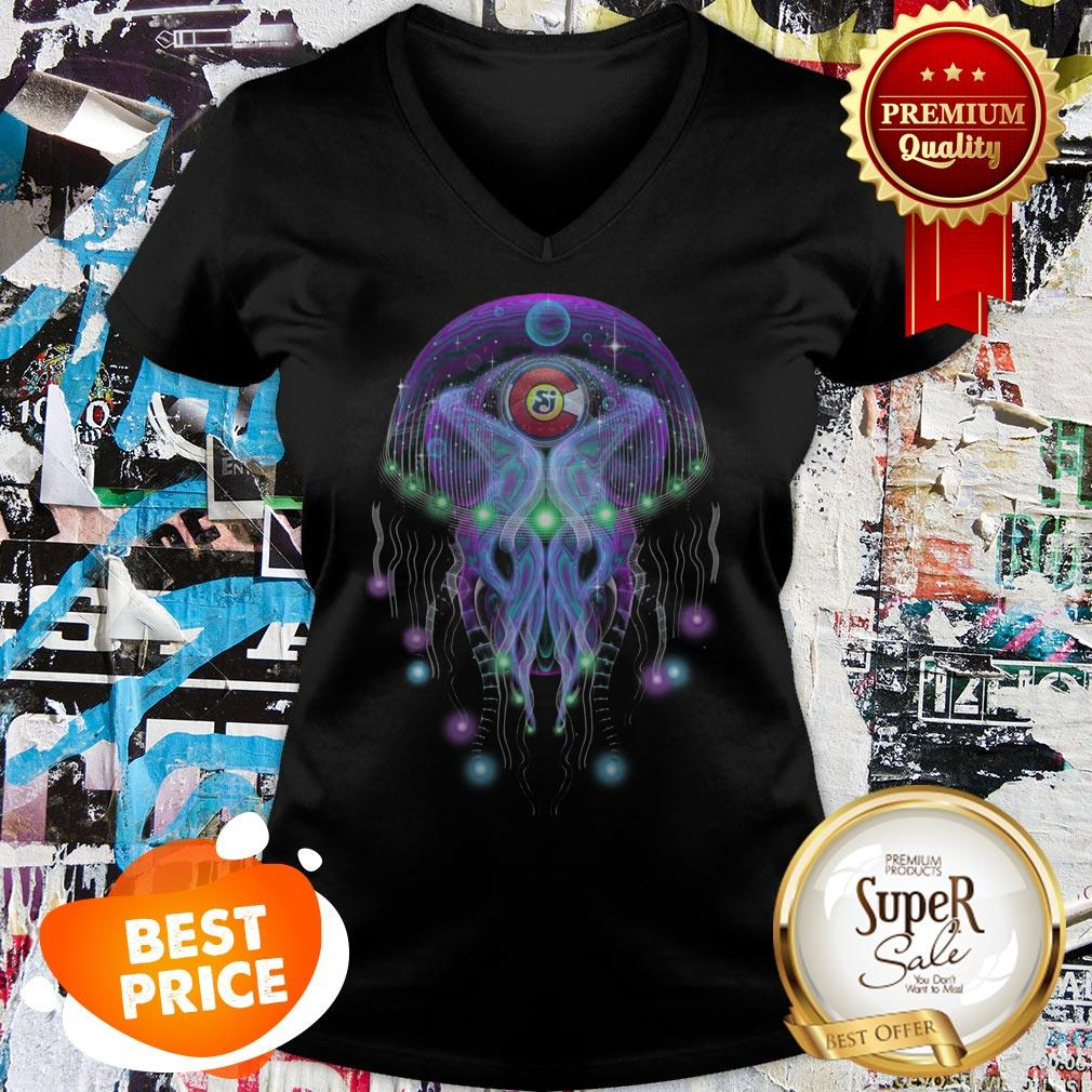 String Cheese Incident CO Love Psychedelic Jellyfish V-neck