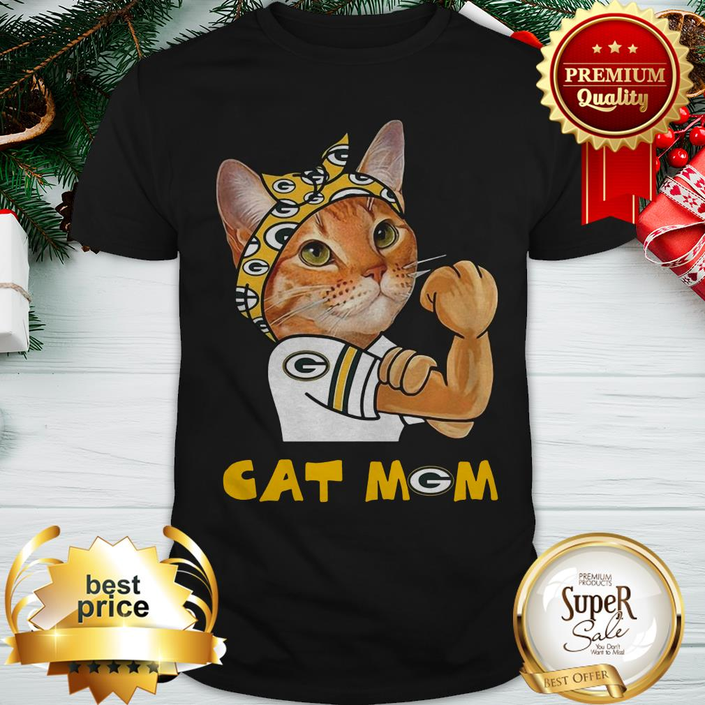 Strong Cat Mom Green Bay Packers Shirt