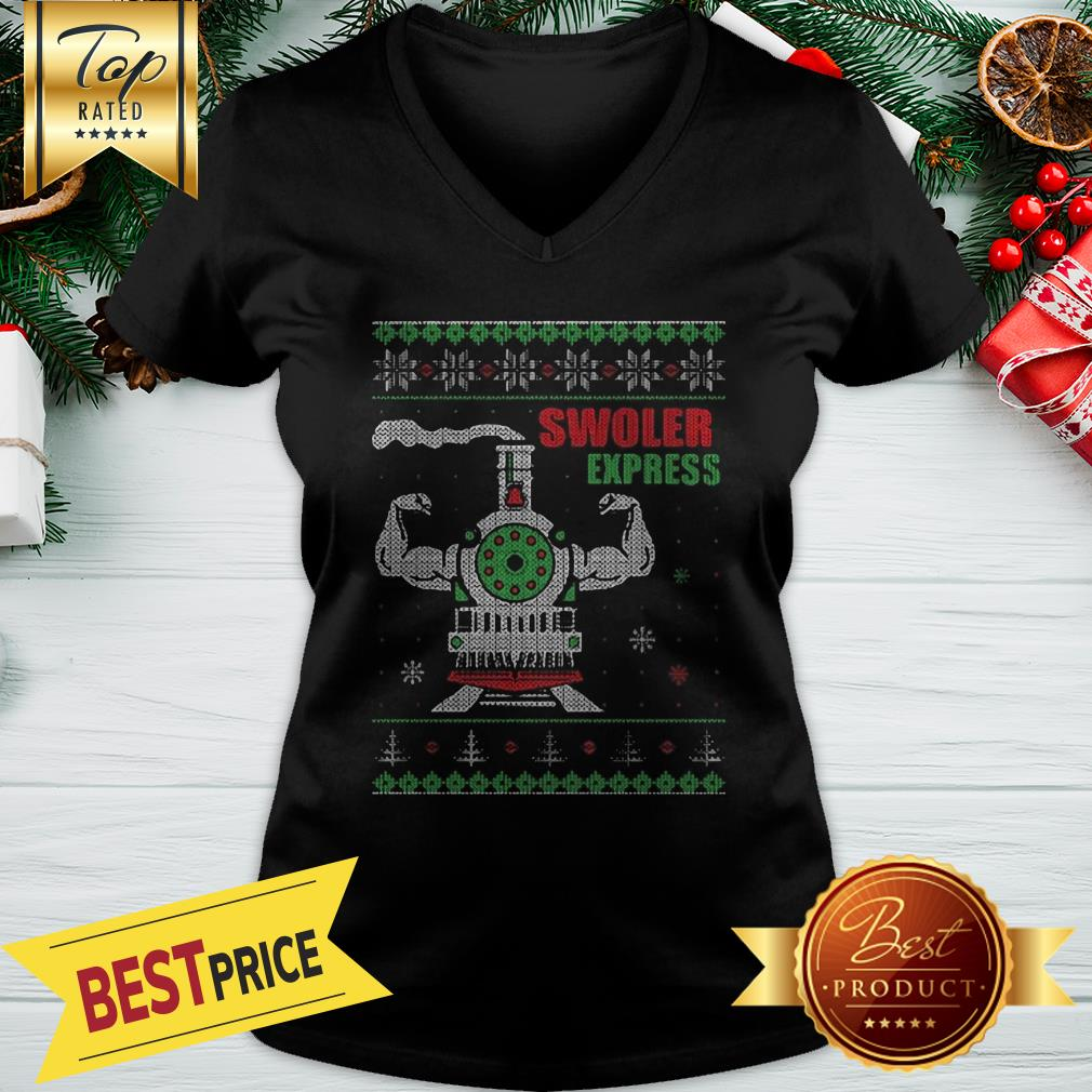 Swoler Express Ugly Christmas V-Neck