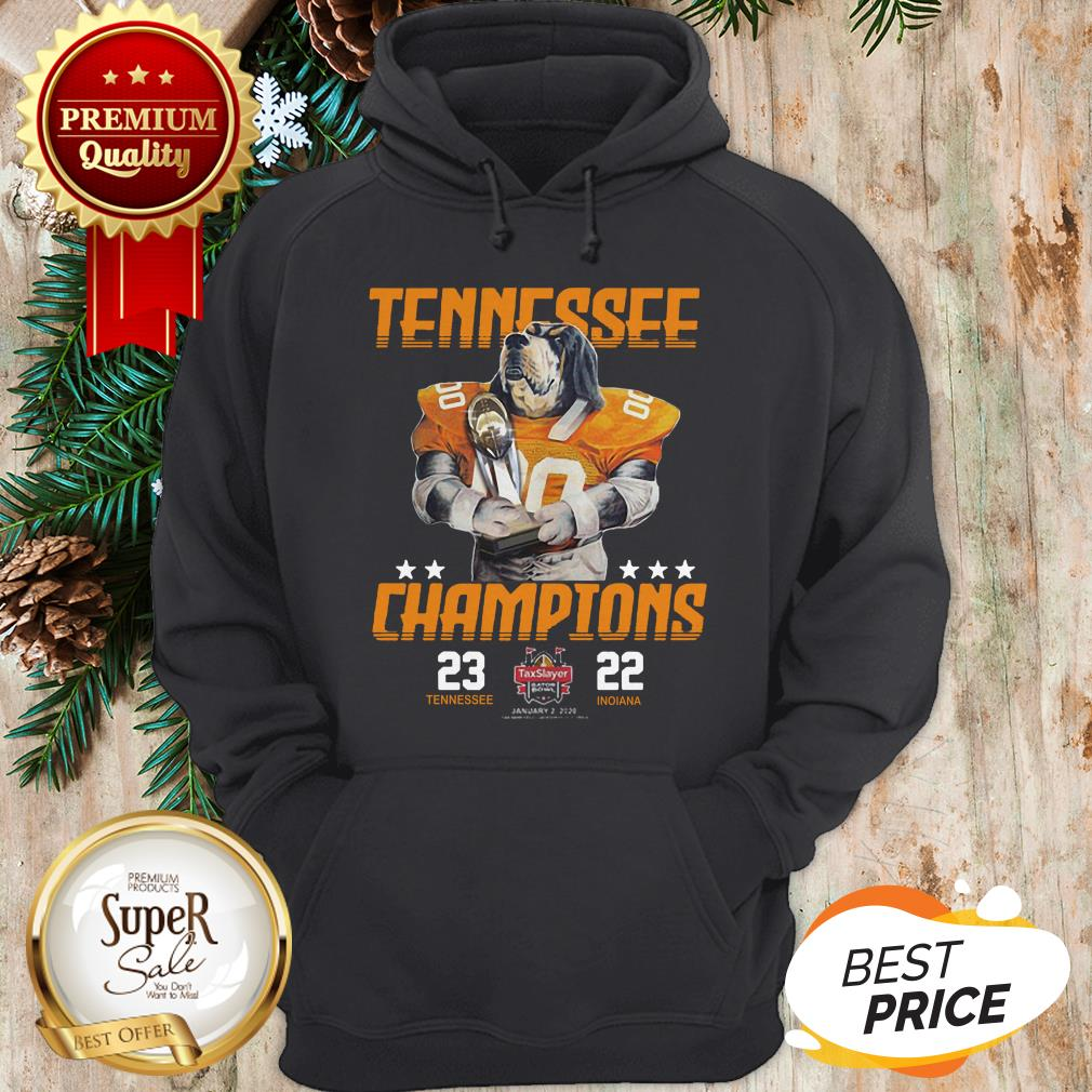 Tennessee Volunteers Champions TaxSlayer Gator Bowl Vs Indiana Hoodie