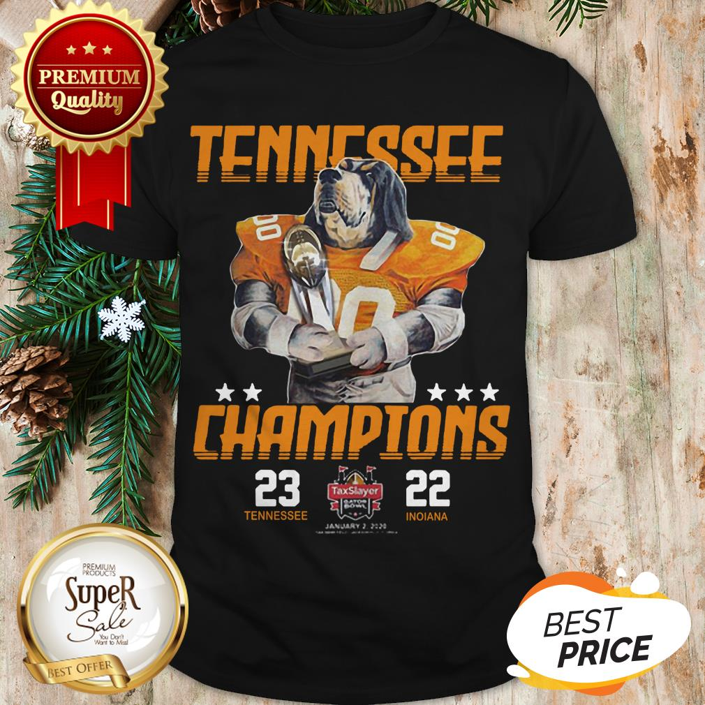 Tennessee Volunteers Champions TaxSlayer Gator Bowl Vs Indiana Shirt