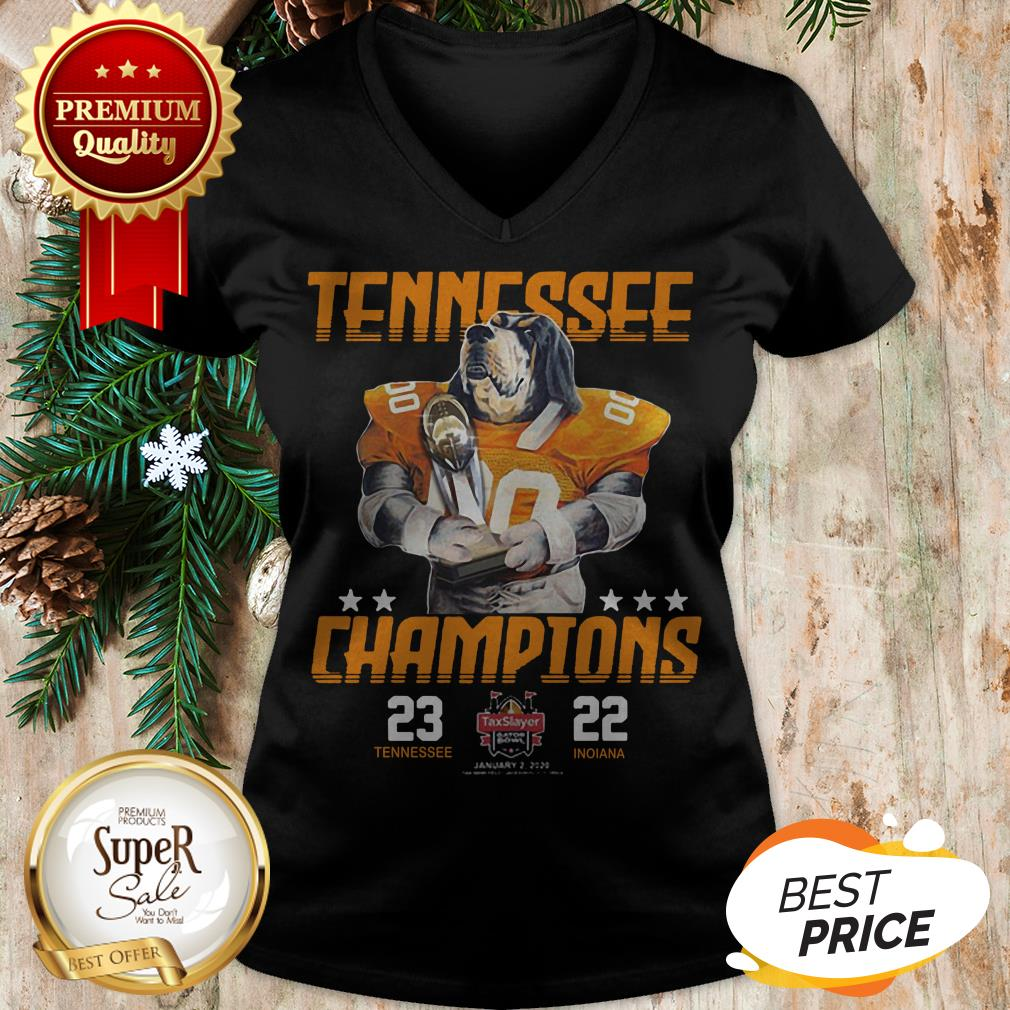 Tennessee Volunteers Champions TaxSlayer Gator Bowl Vs Indiana V-neck