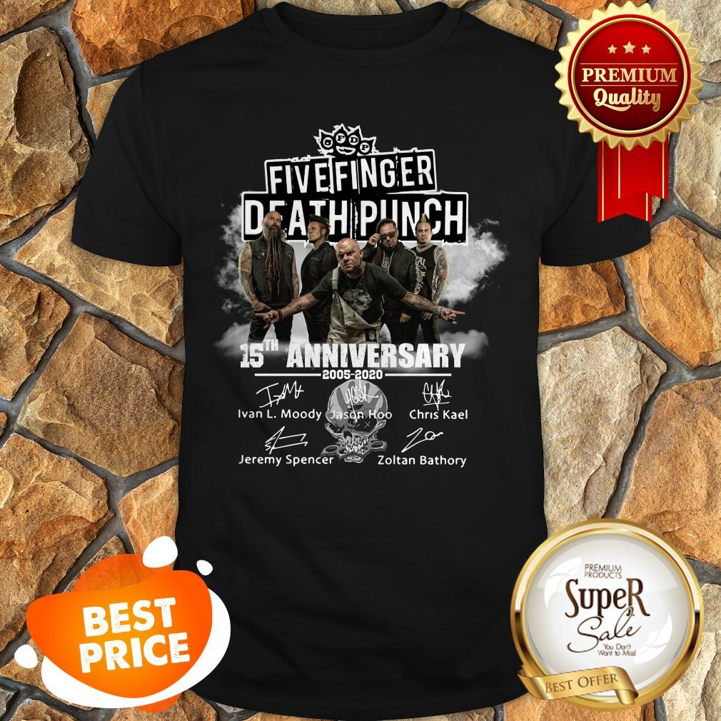 Top Five Finger Death Punch 15th Anniversary 2005 2020 Signatures Shirt