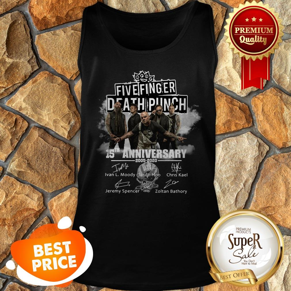 Top Five Finger Death Punch 15th Anniversary 2005 2020 Signatures Tank Top