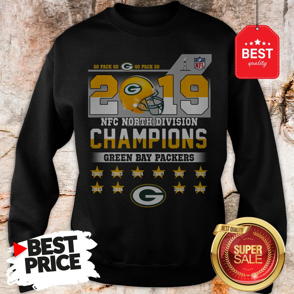 Top Go Pack Go 2019 NFC North Division Champions Green Bay Packers Sweatshirt
