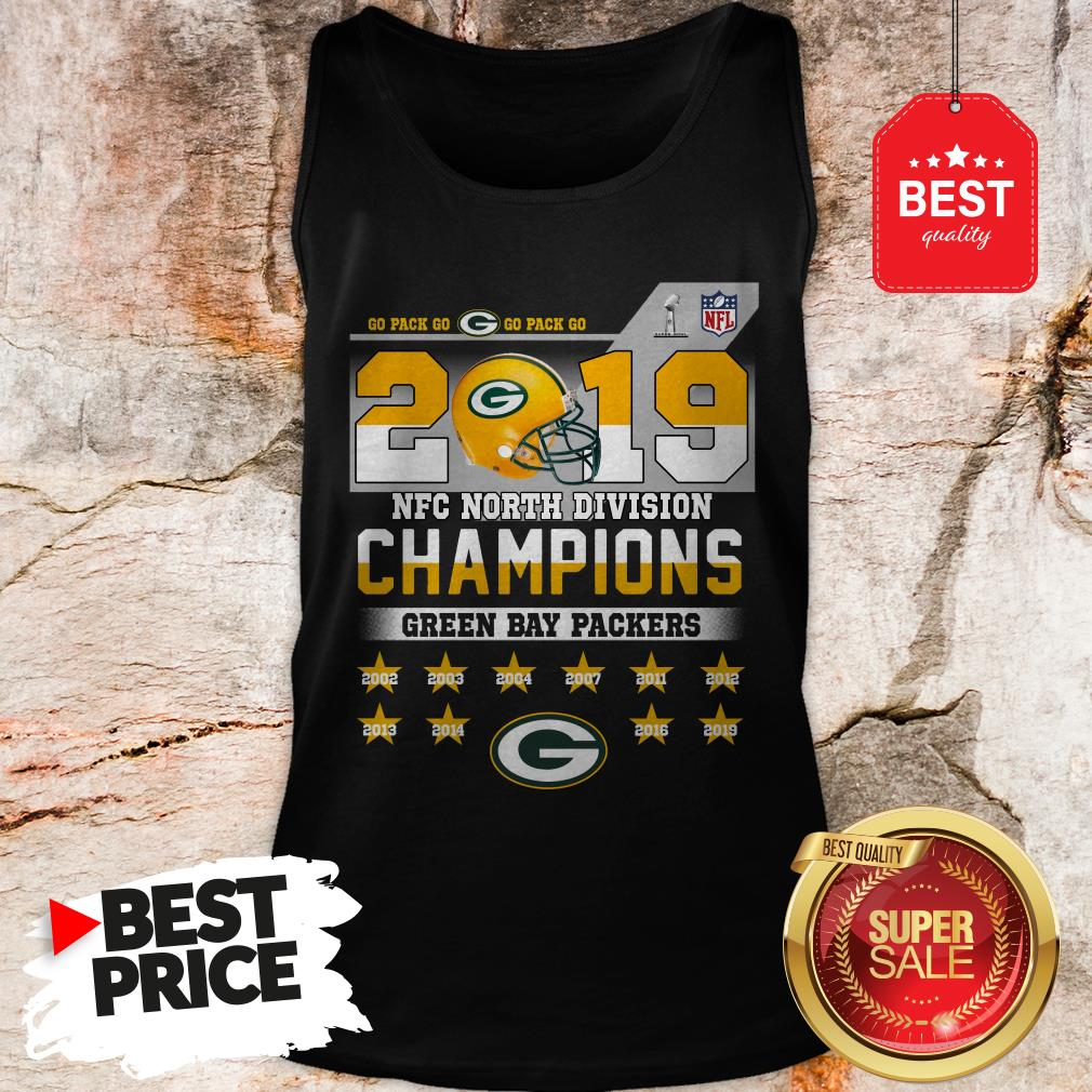 Top Go Pack Go 2019 NFC North Division Champions Green Bay Packers Tank Top