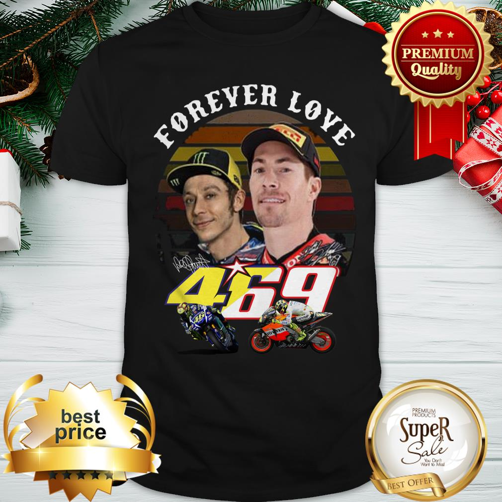 Valentino Rossi Forever Love 469 Nicky Hayden Signature Vintage Shirt