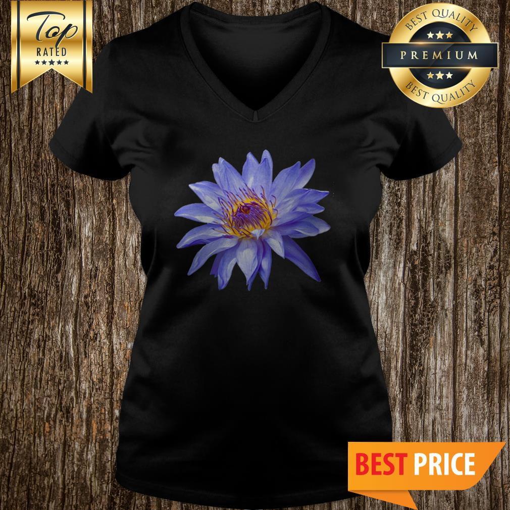 Water Lily Bloom Pillow Flower V-neck