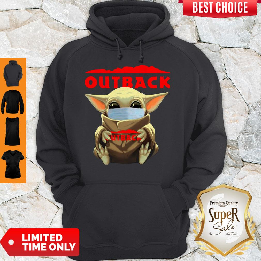 Official Baby Yoda Face Mask Hug Outback Hoodie