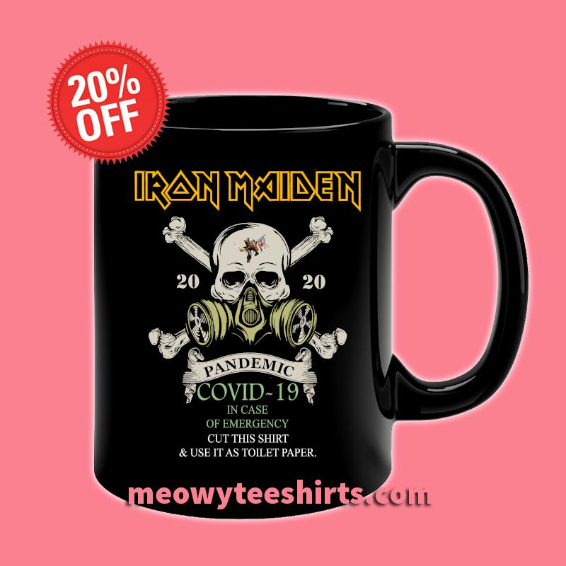 Iron Maiden 2020 Pandemic Covid-19 in case of emergency s Mug Front