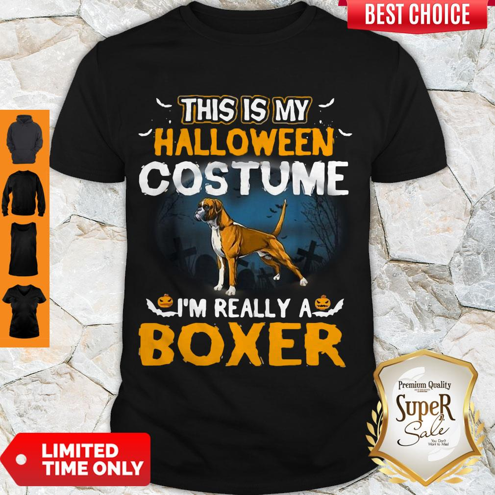 Perfect This Is My Halloween Costume I'm Really A Boxer Shirt